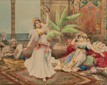 Fabio FABBI - Drawing-Watercolor - Harem Dancers