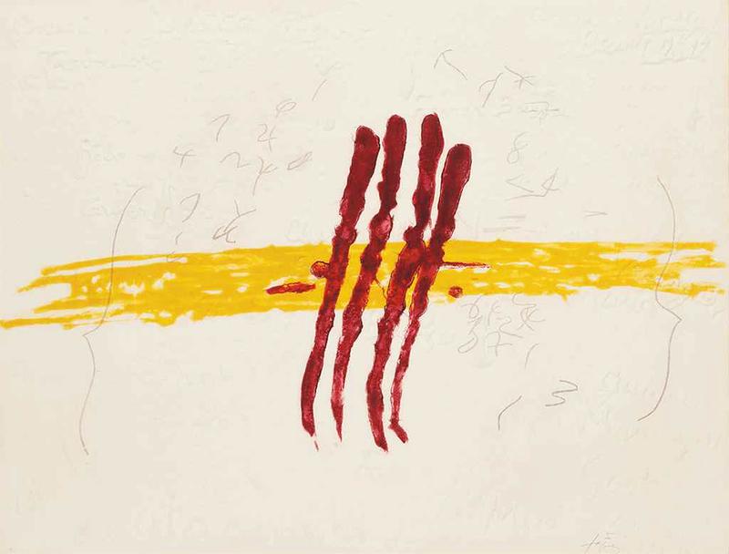 Quatre rius de sang de | Antoni TAPIES | Compra de arte online | artprice