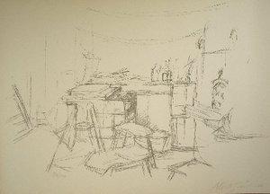 Alberto GIACOMETTI, L'atelier aux bouteilles