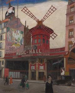 Léon SMET DE - Pintura - Le Moulin Rouge
