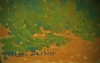 Henri BARBIER - Peinture - Vue d'un village du sud-ouest, Pays-Basque