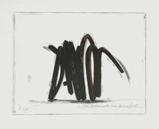 Bernar VENET - Grabado - Two indeterminate lines