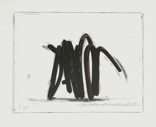 Bernar VENET - Print-Multiple - Two indeterminate lines