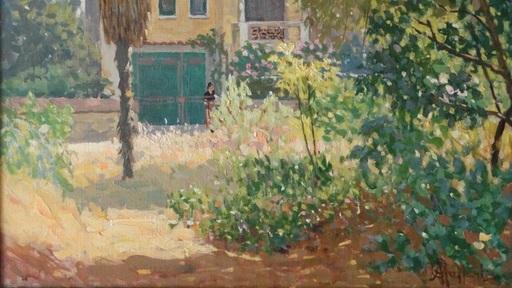 Attilio GUFFANTI - Gemälde - Jardin en été