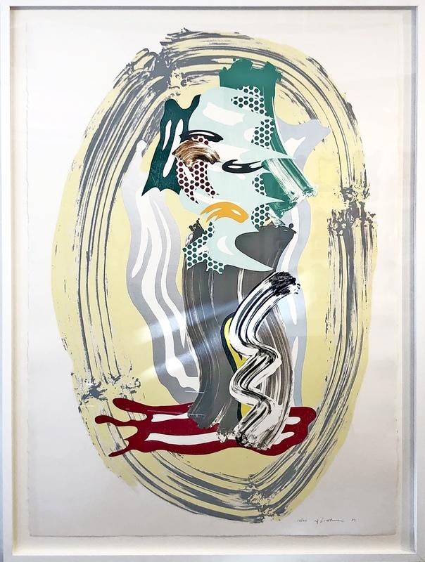 Roy LICHTENSTEIN - Stampa-Multiplo - Green Face, from Brushstroke Figures Series