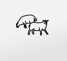 Julian OPIE - Sculpture-Volume - Sheep 2, from Nature 1 Series