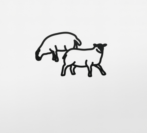 Julian OPIE - Scultura Volume - Sheep 2, from Nature 1 Series