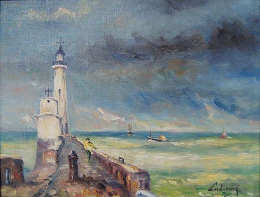 André CORDENOS - Peinture - Phare du TREPORT