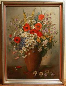Alois ZABEHLICKY - Pintura - Veldbloemen