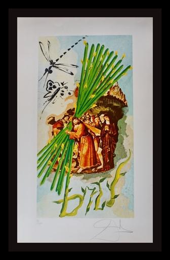 Salvador DALI - Druckgrafik-Multiple - Lyle Stuart Tarot Prints Ten of Staves