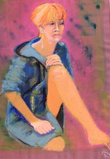 R.CAVALIÉ - Drawing-Watercolor - Cache-cœur