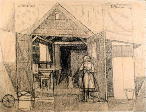Manuel HERNÁNDEZ MOMPO - Gemälde - Casa de lechera