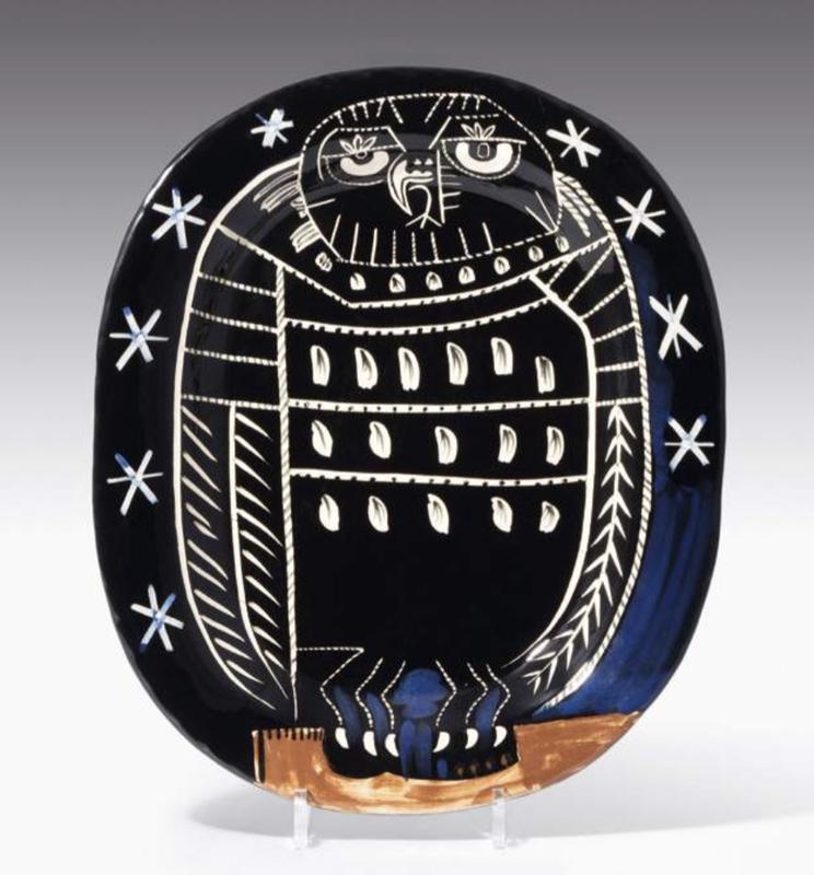 Pablo PICASSO - Ceramic - Hibou brillant