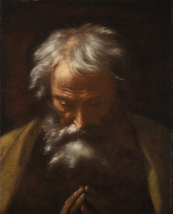 Donato CRETI IL DONATINO - Pintura - Head of an old man praying - Testa di vecchio in preghiera