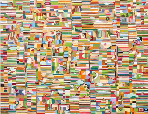 Jérémie IORDANOFF - Peinture - Les yeux fermés (Abstract painting)