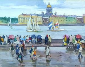 Igor Alexandrovich RAZDROGIN - Pittura - Rainy Day