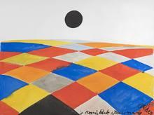 Alexander CALDER - Dessin-Aquarelle - Composition