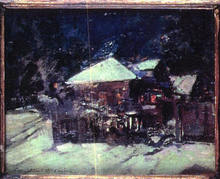 Konstantin A. KOROVIN (1861-1939) - House beneath the snow