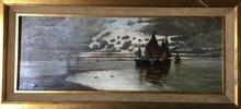 Segundo MATILLA MARINA - Peinture - Barcos en la costa
