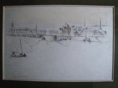 André HAMBOURG - Print-Multiple - MAREE BASSE A HONFLEUR