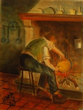 Valerio BETTA - Painting - La polenta