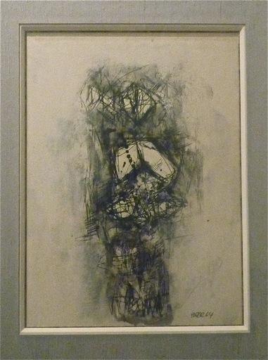 Franz BEER - Zeichnung Aquarell - Composition