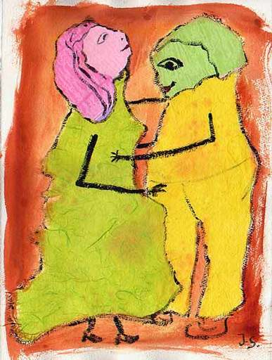 Jacotte SIBRE - Drawing-Watercolor - Les commères 2