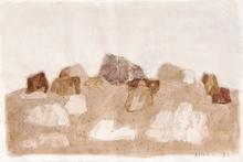 Zoran Antonio MUSIC - Drawing-Watercolor - Paesaggio roccioso