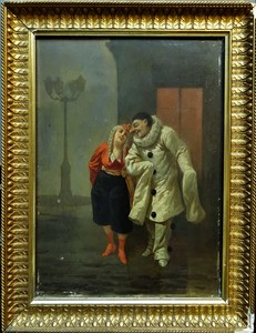 Pascual ORTEGA - Painting - Scène de la comedia Del Arte