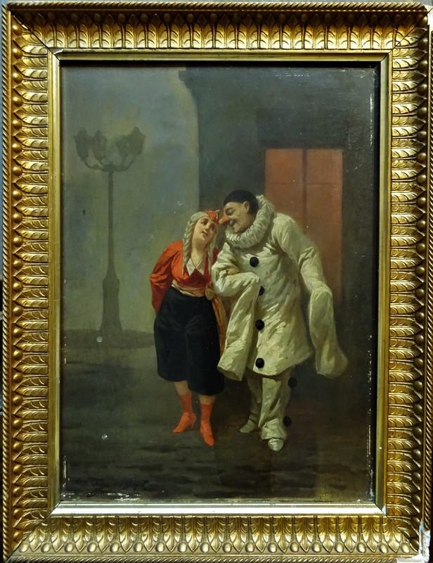 Pascual ORTEGA - Peinture - Scène de la comedia Del Arte