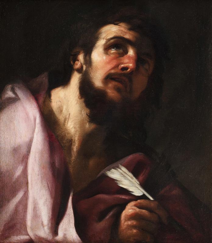 Giacinto BRANDI - Painting - Head of Evangelist (San Matthew?)