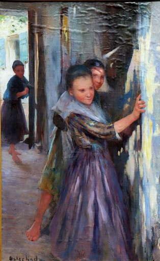 "Allan ÖSTERLIND - Painting - ""CACHE-CACHE"""