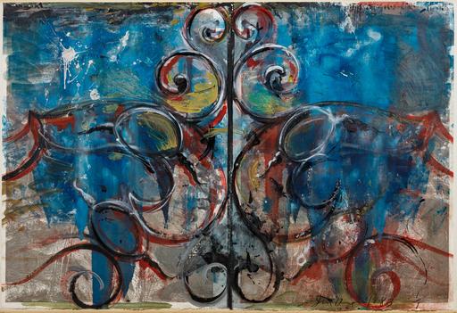 Jim DINE - Disegno Acquarello - Composition