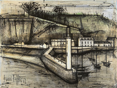 Bernard BUFFET - Drawing-Watercolor - Le phare
