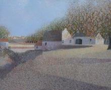 André BOURRIE - Painting - La rivière asséchée
