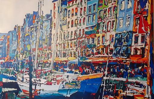 Joël FOUGMAN - Painting - Honfleur