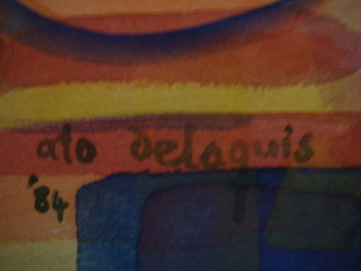 Ato DELAQUIS - Dibujo Acuarela - MARCHE AFRICAIN  ORIENTALISME