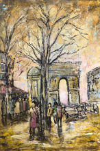 Jean-Jacques MARIE - Painting - Arc de Triomphe. Paris