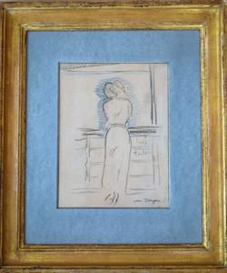 Kees VAN DONGEN - Disegno Acquarello - En Croisiere