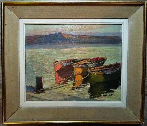 Max BOUVET - Peinture - Embarcations en Méditéranée