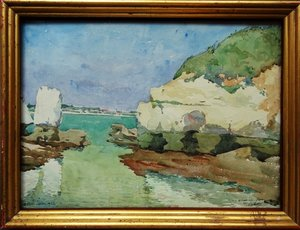 Pierre Adolphe VALETTE - Drawing-Watercolor - Royan