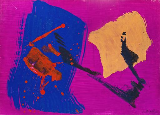 Gérard SCHNEIDER - Disegno Acquarello - Untitled
