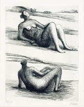 Henry MOORE (1898-1986) - Two Reclining Figures