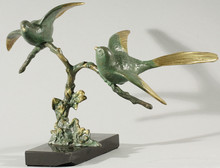 Georgij Dmitrievic LAVROV - Escultura - Birds on a Branch