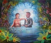 SHULA - Painting - Hote de la dame de mer