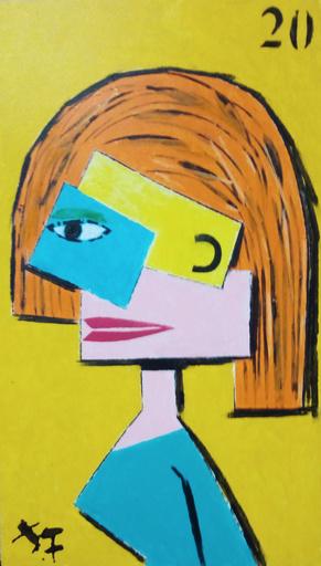 Harry BARTLETT FENNEY - Pittura - retro femme 2