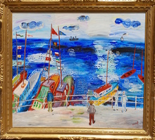 Carlos NADAL - Painting - Le port Ostende