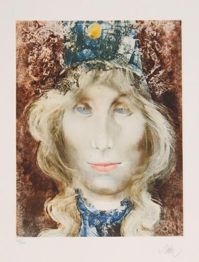Endre SZASZ - Stampa Multiplo - Portrait of a Woman