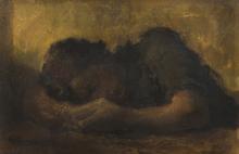 Alexander Evgenevich IACOVLEFF - Painting - Femme endormie [Sleeping Woman]