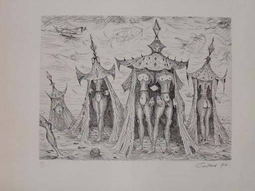 """Lucien COUTAUD - 版画 - """"Un bel été"""""""